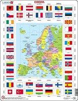 Larsen Karte/Flaggen - Europa