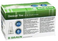 B. Braun Omnican Fine Pen Kanuele G31 0,25 x 6 mm (100 Stk.)