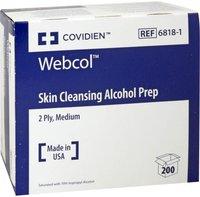 Covidien Alkoholtupfer Webcol 3,5 x 3,5 cm Steril