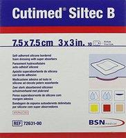 BSN medical Cutimed Siltec B Schaumver.7,5 x 7,5cm M.Haftr. (10 Stk.)