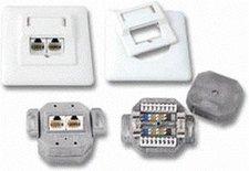 EFB Elektronik EcoLAN Datendose 2xRJ45 Cat. 5E AP rechts/links