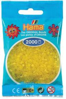 malte haaning Plastic Perlen 2000 Stück - transparent-gelb