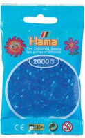 malte haaning Plastic Perlen 2000 Stück - transparent-blau