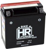 Motorradbatterie 12 V 12 Ah YTX14-BS