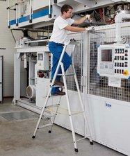 Zarges Z600 genietete 5 Stufen-Stehleiter 1,88 m(41225)