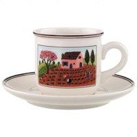 Villeroy & Boch Design Naif Kaffeetasse mit Untertasse