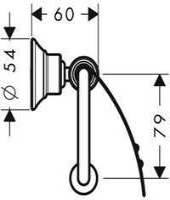 Axor Montreux Papierrollenhalter