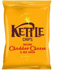 Kettle Foods Chips Mature Cheddar & Red Onion (150 g)