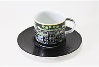Königlich Tettau Hundertwasser Kaffeetasse mit Untertasse