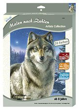 Mammut Malen nach Zahlen Artists Collection klein - Wolf