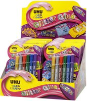 UHU Glitter Glue Original 24er Display