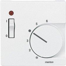 Merten Zentralplatte für Raumtemperaturregler-Einsatz mit Schalter (536119)
