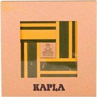 Kapla Holzbausteine mit Kunstband gelb/grün (Farbe 23)