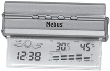 Mebus 10395 transparentes Fensterthermometer