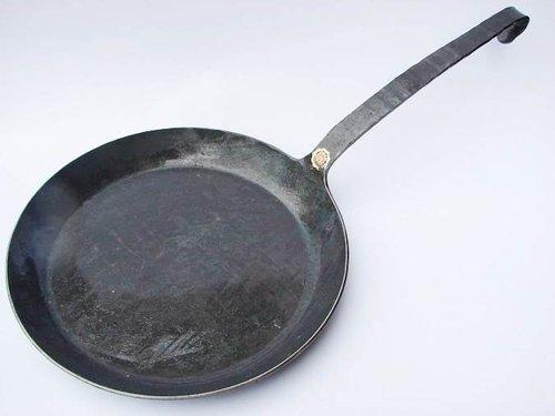 Turk Bratpfanne 32 cm mit flachem Hakenstiel (65532)