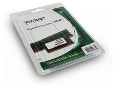 Patriot Signature 8GB Kit SO-DIMM DDR3 PC3-12800 CL11 (PSD38G1600SK)