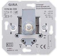 Gira Universal-Dimm-Einsatz mit Druck-/Drehschalter 2 (117600)