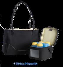 Medela CityStyle Tasche mit Kühlelement und 4 Flaschen