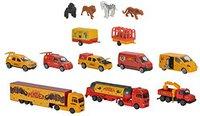 Majorette Pinder Giftpack mit 14 Zirkus-Fahrzeugen