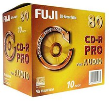 Fuji Magnetics Fujifilm CD-R Audio 700MB 80min 1x 10er Jewelcase