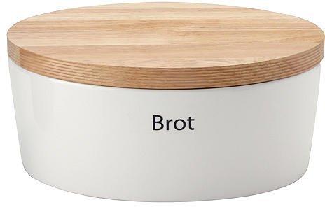 Continenta Brottopf mit Holzdeckel oval