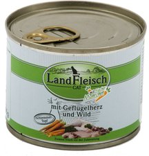 Dr. Alder's Landfleisch Cat Geflügelherzen & Wild (400 g)