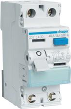 Hager FI-Schutzschalter 2P 40A 30mA (CDS240D)