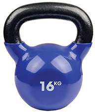 Fitness Mad 16kg Kettlebell - Black