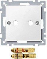 Merten Zentralplatte mit High-End Lautsprecher-Steckverbinder (4693)