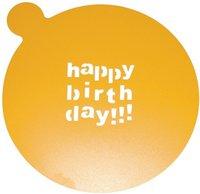 BIRKMANN Kuchenschablone Happy Birthday