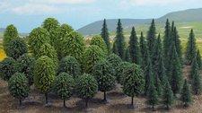 Busch Mischwald mit 50 Bäumen