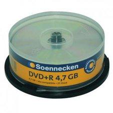 Soennecken DVD+R 4.7GB 120min 16x 25er Cakebox