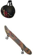 IMP Skateboard mit Helm Drachendesign