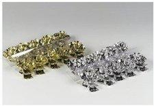 Riffelmacher + Weinberger 10er Baumkerzenhalter gold 15 cm