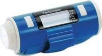 Heitronic Schrittzähler blau mit LED-Taschenlampe