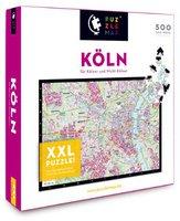PuzzleMap Köln (XXL-Puzzle, 500 Teile)