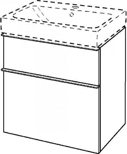 Keramag iCon Waschtischunterschrank alpin (59,5 x 62 x 47,7 cm) 840360000
