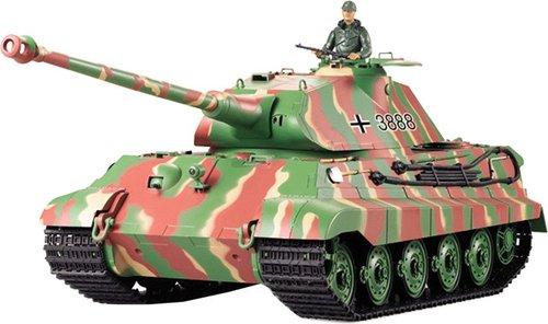 Double Horse Heng Long Königstiger mit Porsche Turm 6mm BB tarn grün RTR