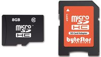 ByteStor microSDHC Card 8 GB Class 10