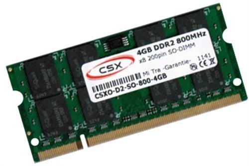CSX-Memory 4GB SO-DIMM DDR2 PC2-6400 CL5 (CSXO-D2-SO-800-4GB)