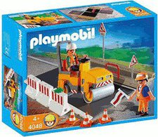 Playmobil 4048 Straßenwalze mit Asphaltplatte