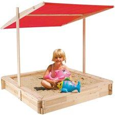 Happy People Holz-Sandkiste mit Dach