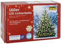 Idena LED-Lichterkete 160er warmweiß
