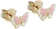 Gallay Schmetterling rosa Kindergoldstecker (G431044)