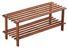 Premier Housewares Latten-Schuhregal 2-stöckig (30 x 74 x 26 cm)