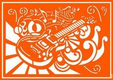 C. Kreul Textil-Schablone Rock'n Roll