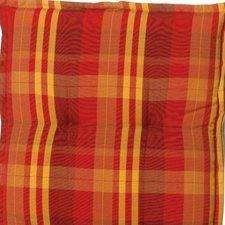 Sun Garden Naxos Relaxliegenauflage 174 x 50 cm (Dessin 10348-3: rot/orange/kariert)