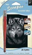 Mammut Scraper Kratzbild Silber Mini Wolf