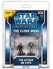 Wizards Star Wars Miniatures - The Clone Wars - Map Pack 1 : Attack on Teth