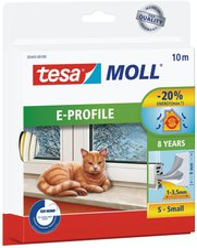 Tesa Tesamoll 10mx9mm Gummi weiss (05445-00013-09)